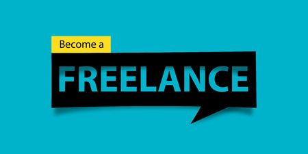 defuse: Freelance banner isolated. Banner design template.