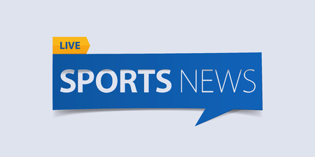 defuse: Sport news banner isolated on light blue background. Banner design template. Vector illustration.