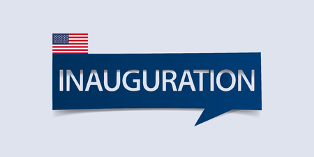 dc: Inauguration Day banner isolated on light blue background. Banner design template. Vector illustration. Illustration