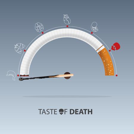 31 de mayo Día Mundial Sin Tabaco. Conciencia del día sin fumar. Campaña para dejar de fumar. Ilustración vectorial