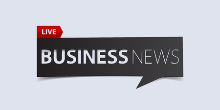 defuse: Business news header isolated on white background. Breaking news Banner design template. Vector illustration. Illustration