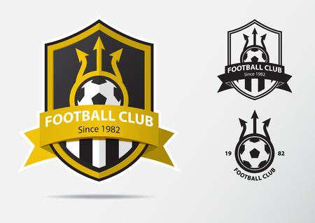 Set van het Logo van het Voetbalvoetbal Kenteken Ontwerp van het Ontwerp. Sport Team Identity. Vectorillustratie. Logo