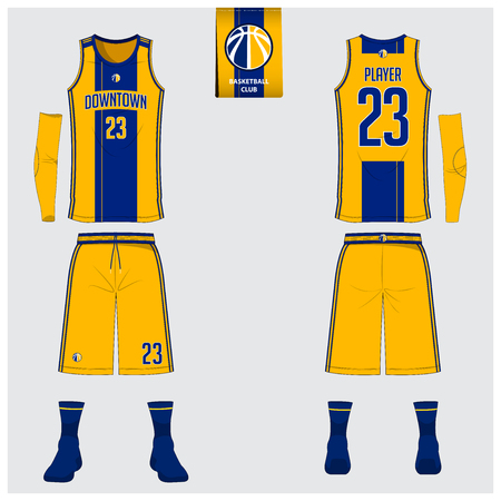Basketball uniform design.