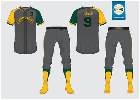 Honkbal uniforme mock up, voor- en achterkant bekijken vectorillustratie. Stockfoto - 91093946
