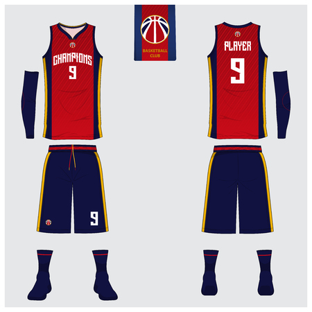 Basketball uniform or sport jersey design