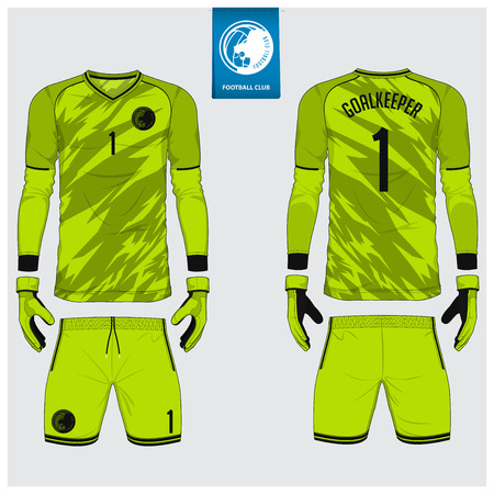 Soccer jersey Vector Illustration template Vectores