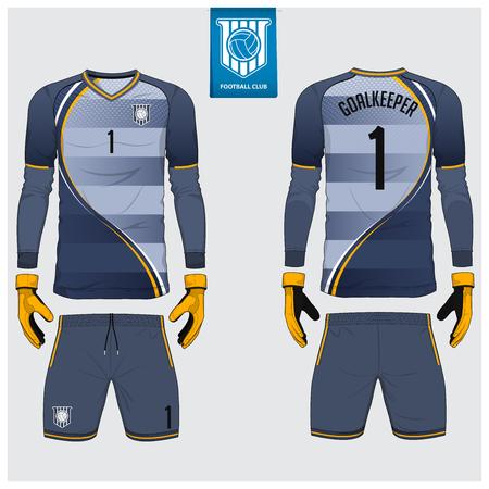 Soccer jersey Vector Illustration template Ilustração