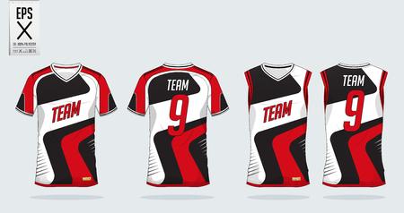 Sports shirt design illustration