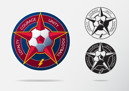 Soccer logo or football badge template design for football team soccer logo or football badge template design for football team sport emblem design of red maxwellsz