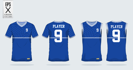Blue Star t-shirt sport design template for soccer jersey, football kit and tank top for basketball jersey.