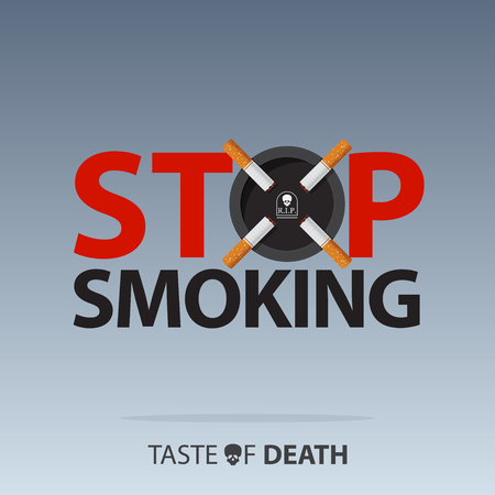 May 31st World No Tobacco Day. Banner for No Smoking Day Awareness. Stop Smoking Campaign. Stop smoking sign concept. Vector Illustration. Иллюстрация