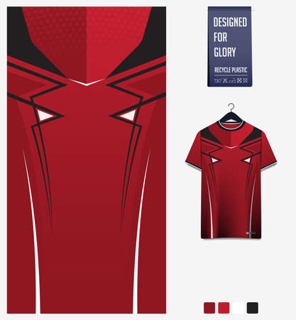 Fabric textile design for sport t-shirt, soccer jersey, football kit, e-sport shirt, bicycle, basketball, racing, baseball, sport uniform. Soccer jersey pattern for sublimation printing. Vector