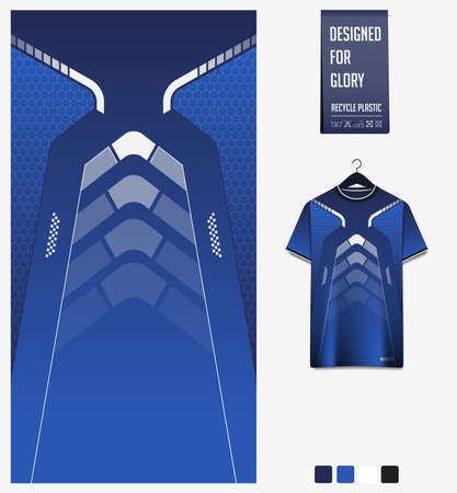 Fabric textile design for sport t-shirt, soccer jersey, football kit, e-sport shirt, bicycle, basketball, racing, baseball, sport uniform. Soccer jersey pattern. Vector.
