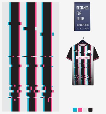 Soccer jersey pattern design. Stripe pattern on white background for soccer kit, football kit or sports uniform. T-shirt mockup template. Fabric pattern. Sport background.