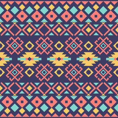 Geometric ethnic pattern or tribal seamless pattern fabric design. Abstract background Vector.