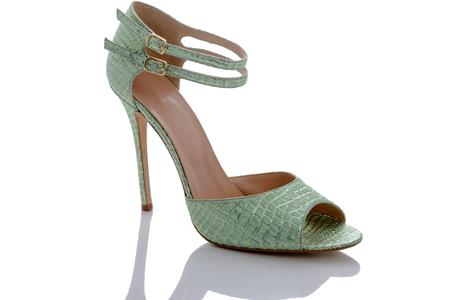 beautiful high-heeled sandals stylish and designer Stock Photo