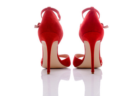 clasp feet: red beautiful shoes for women and girl