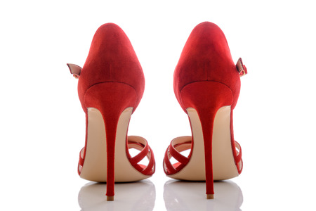 clasp feet: beautiful and stylish and modern sandals in red