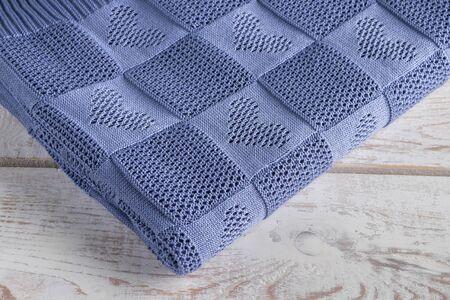 warm, beautiful and a new handmade blanket Stock fotó