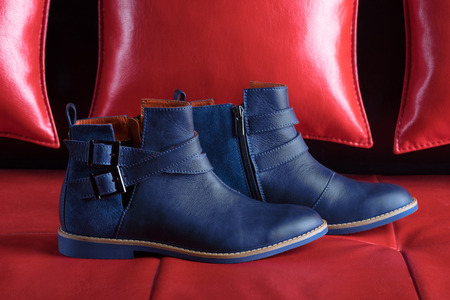 9be2fd3266fa fashion unisex boots in modern blue color