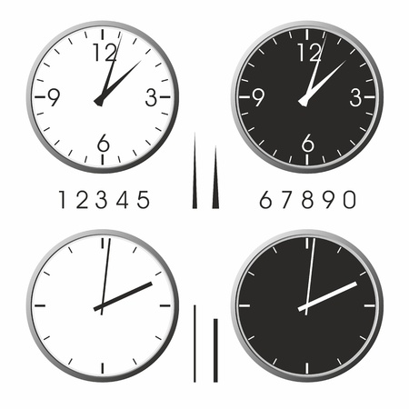 clock hands: Office clock Illustration