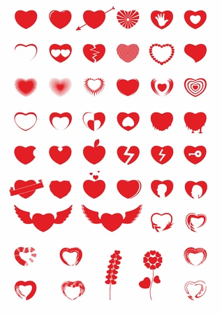 Heart Icons  Illustration