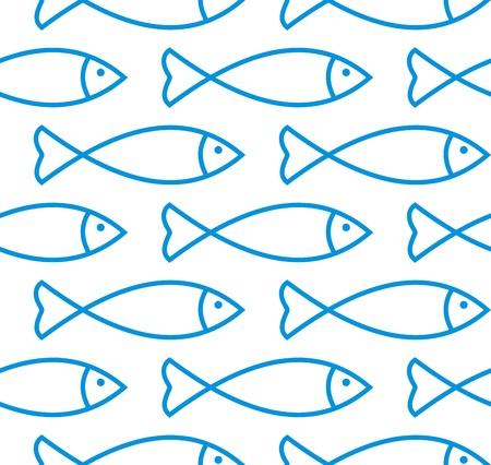 escamas de peces: Pescado sin patr�n Vectores