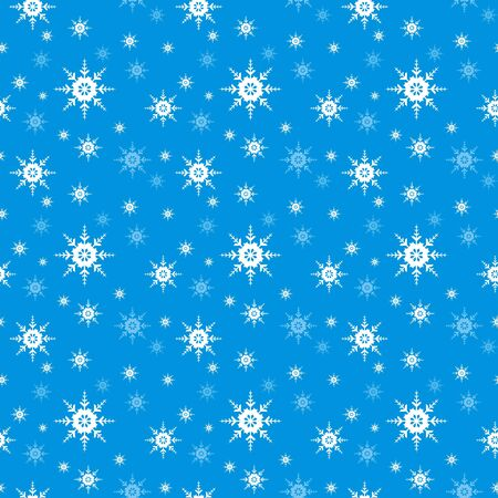 snowing: Seamless Snowflake vector background