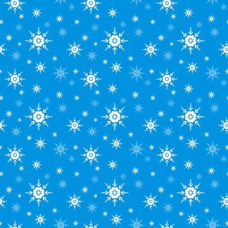 neige qui tombe: Seamless vecteur flocon de neige Illustration