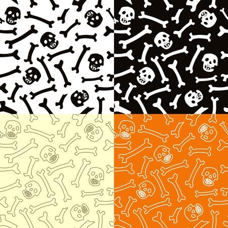 Skeletons seamless vector pattern. Illustration