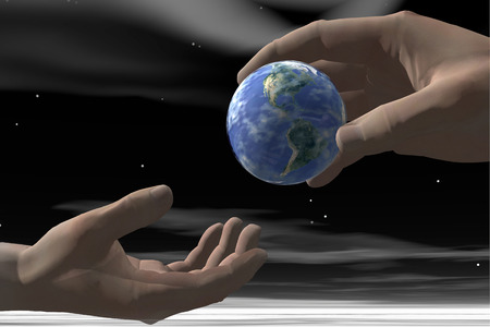 shared sharing: Passing Earth From Hand To Hand