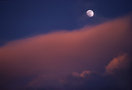 Aerial View Of The Moon And Clouds