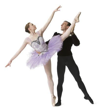 Ballet Dancers Performing Ballet