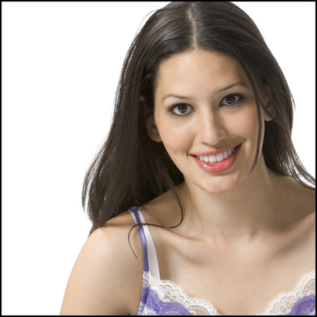 Portrait Of A Young Woman Smiling LANG_EVOIMAGES