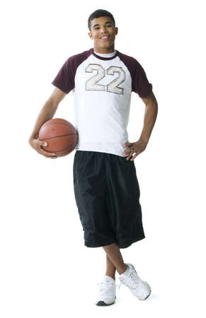 Portrait Of A Young Man Holding A Basketball