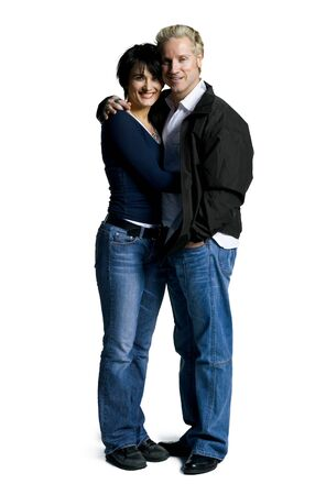 Profile Of A Couple Embracing