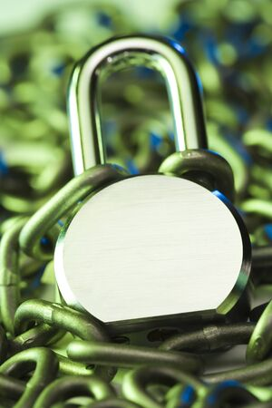 Close-Up Of A Chained Padlock