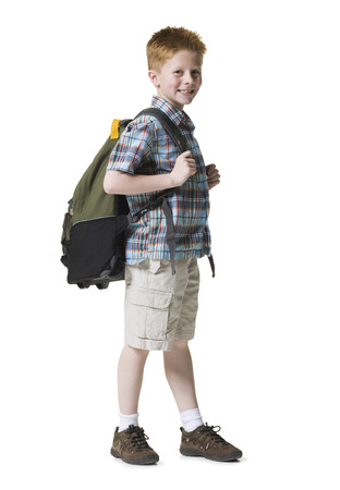 Portrait Of A Boy With A Backpack