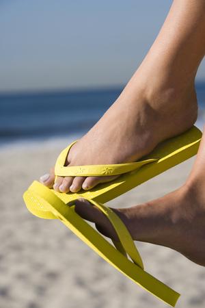 flip flops: WomanS Feet With Flip Flops