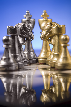 Close-Up Of A Chessboard With Piece