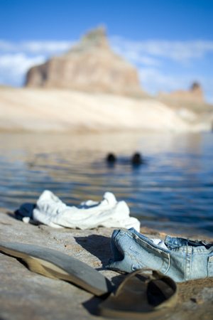 flip flops: A Couple Skinny-Dipping, In The Background LANG_EVOIMAGES