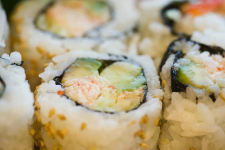 Close-Up Of Sushi Rolls