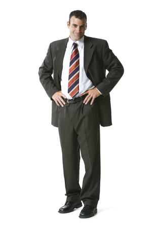 Portrait Of A Businessman Sanding