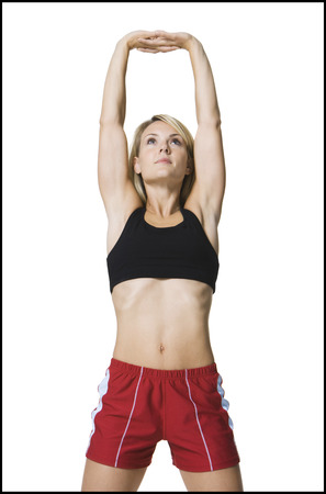 Young Woman Stretching Her Arms