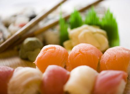Close-Up Of A Sushi Platter LANG_EVOIMAGES