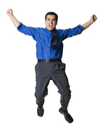 puños cerrados: Businessman Jumping LANG_EVOIMAGES