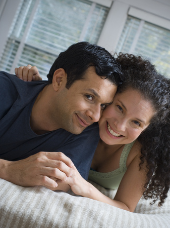 Portrait Of A Mid Adult Couple Smiling