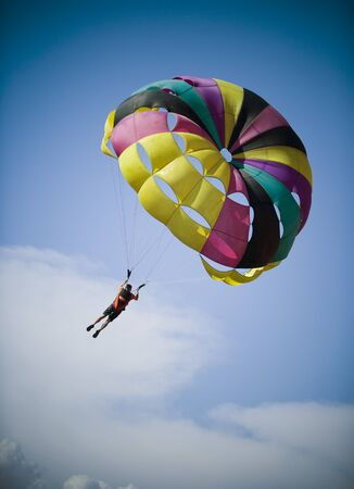 Low Angle View Of A Person Parasailing