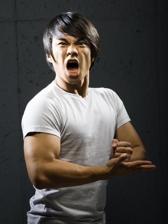 Portrait Of A Mid Adult Man Practicing Karate LANG_EVOIMAGES