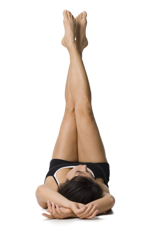 A Woman Doing Yoga LANG_EVOIMAGES